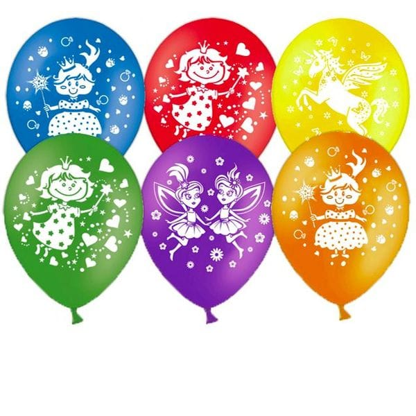 """Воздушные шары. Доставка в Москве: Шары """"Принцессы"""", 35 см Цены на https://sharsky.msk.ru/"""