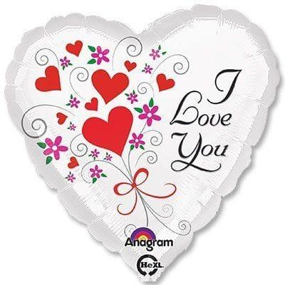 "Сердце ""I Love You"" белое, 46 см"