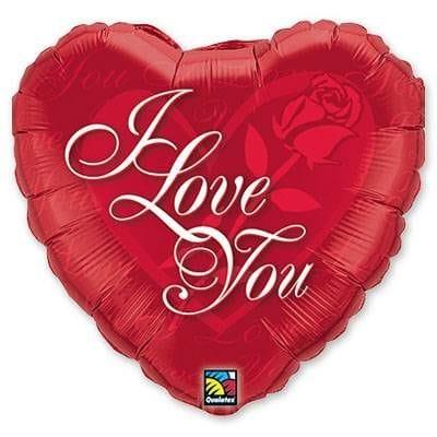 "Сердце ""I Love You"" с розой, 46 см"