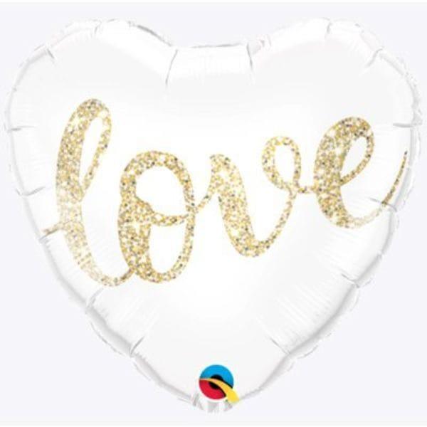 """Воздушные шары. Доставка в Москве: Сердце """"Love"""" белое, 46 см Цены на https://sharsky.msk.ru/"""