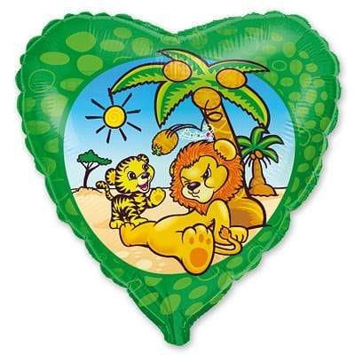 """Сердце """"Львенок под пальмой"""", 46 см"""