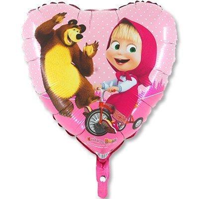 """Сердце """"Маша и медведь"""", 46 см"""