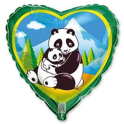 """Сердце """"Панды"""", 46 см"""