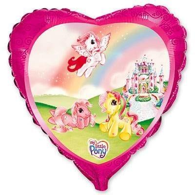 """Сердце """"Пони на радуге"""", 46 см"""