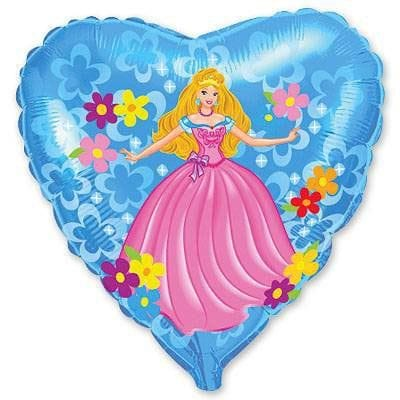 "Сердце ""Принцесса с ромашками"", 46 см"