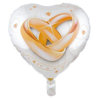 """Сердце """"Свадебные кольца"""", 46 см"""