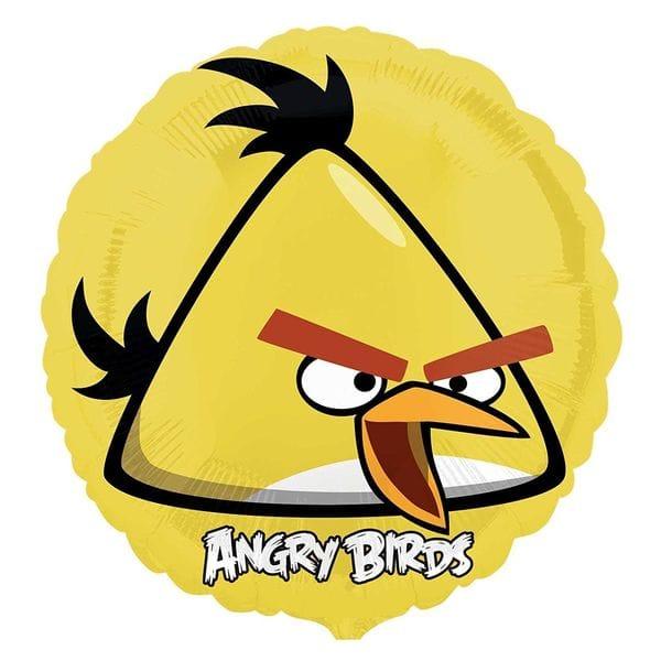 "Воздушные шары. Доставка в Москве: Круг ""Angry Birds"" Желтая птица, 46 см Цены на https://sharsky.msk.ru/"