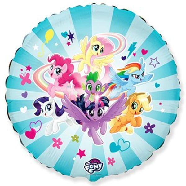 """Воздушные шары. Доставка в Москве: Круг """"Little Pony"""" команда, 46 см Цены на https://sharsky.msk.ru/"""