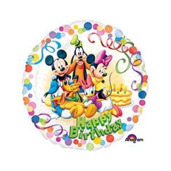 """Воздушные шары. Доставка в Москве: Круг """"Микки Маус и друзья"""", 46 см Цены на https://sharsky.msk.ru/"""