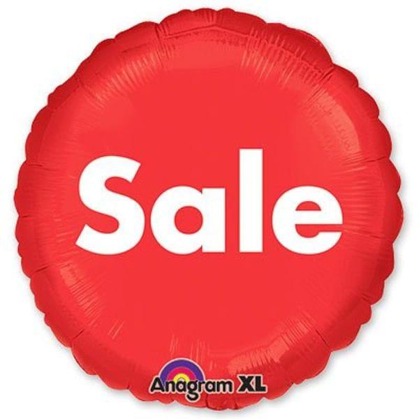 """Воздушные шары. Доставка в Москве: Круг """"Sale"""", 46 см Цены на https://sharsky.msk.ru/"""