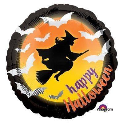 "Круг ""Хеллоуин"" ведьма на метле, 46 см"