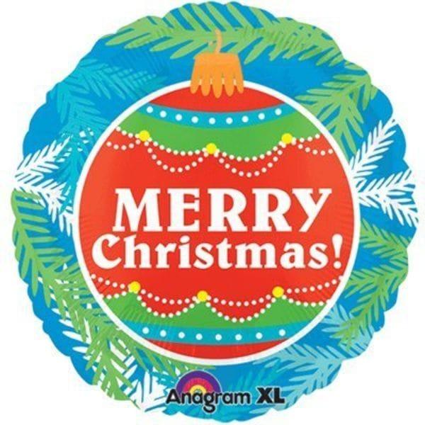 Воздушные шары. Доставка в Москве: Круг Merry Christmas!, 46 см Цены на https://sharsky.msk.ru/