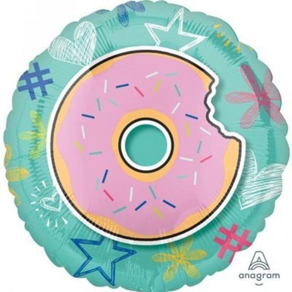 Воздушные шары. Доставка в Москве: Круг Надкусанный пончик, 46 см Цены на https://sharsky.msk.ru/