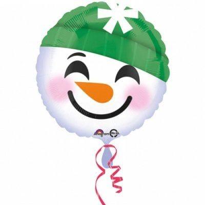 Круг Снеговик в шапочке, 46 см