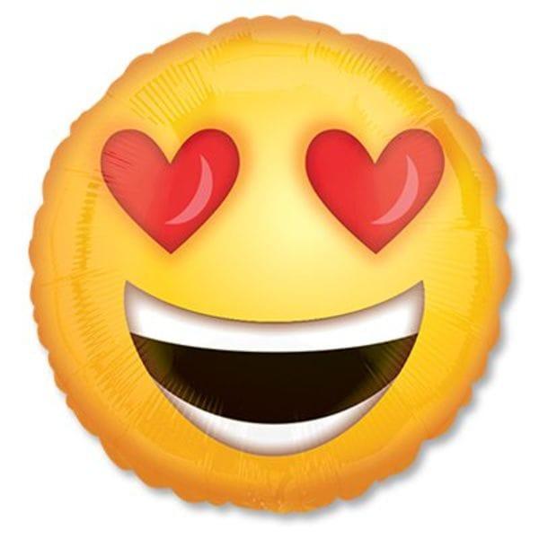 Воздушные шары. Доставка в Москве: Влюбленный смайл, 46 см Цены на https://sharsky.msk.ru/