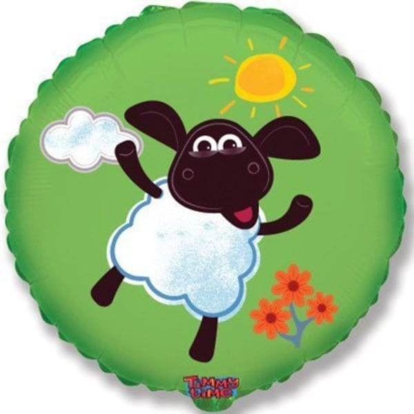 Воздушные шары. Доставка в Москве: Веселая овечка, 46 см Цены на https://sharsky.msk.ru/