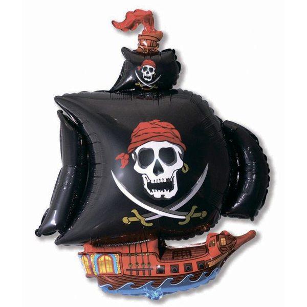 """Воздушные шары. Доставка в Москве: Фигура """"Пиратский корабль"""", 104 см Цены на https://sharsky.msk.ru/"""