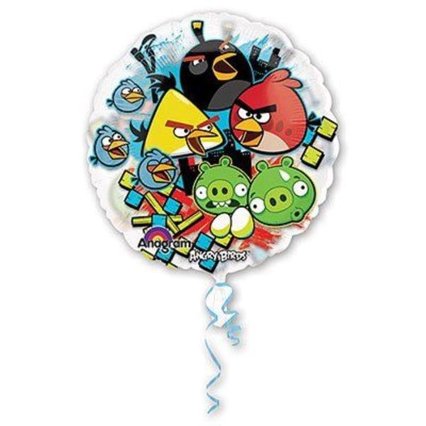 Воздушные шары. Доставка в Москве: Angry Birds (Энгри Бердс) круглый шар, 66 см Цены на https://sharsky.msk.ru/