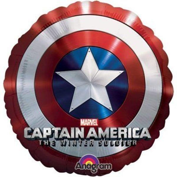 """Воздушные шары. Доставка в Москве: Шар """"Щит Капитан Америка"""", 100 см Цены на https://sharsky.msk.ru/"""