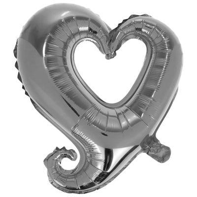 Большое серебряное сердце, 102 см