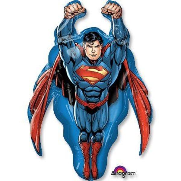 """Воздушные шары. Доставка в Москве: Фигура """"Супермен в полете"""", 86 см Цены на https://sharsky.msk.ru/"""