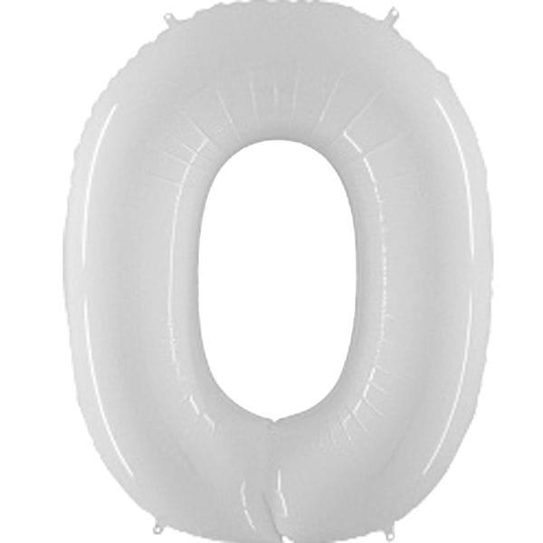 Воздушные шары. Доставка в Москве: Шар белая цифра 0 Цены на https://sharsky.msk.ru/