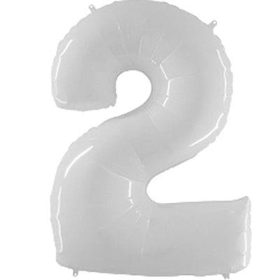 Шар белая цифра 2