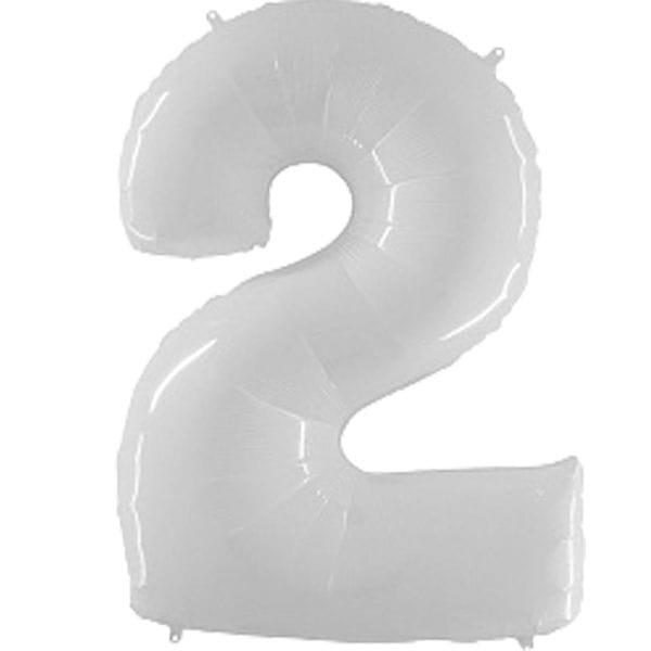 Воздушные шары. Доставка в Москве: Шар белая цифра 2 Цены на https://sharsky.msk.ru/