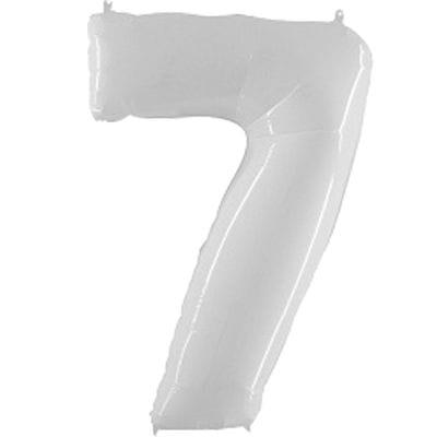 Шар белая цифра 7