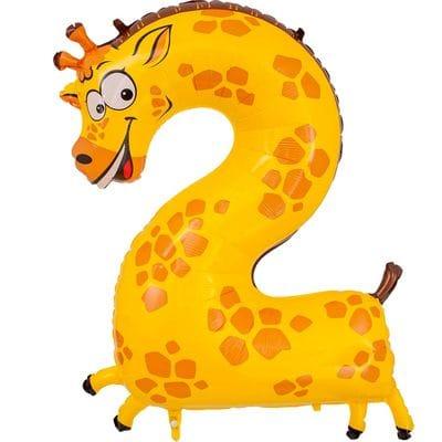 Шар цифра с животным 2