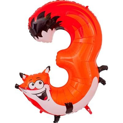Шар цифра с животным 3