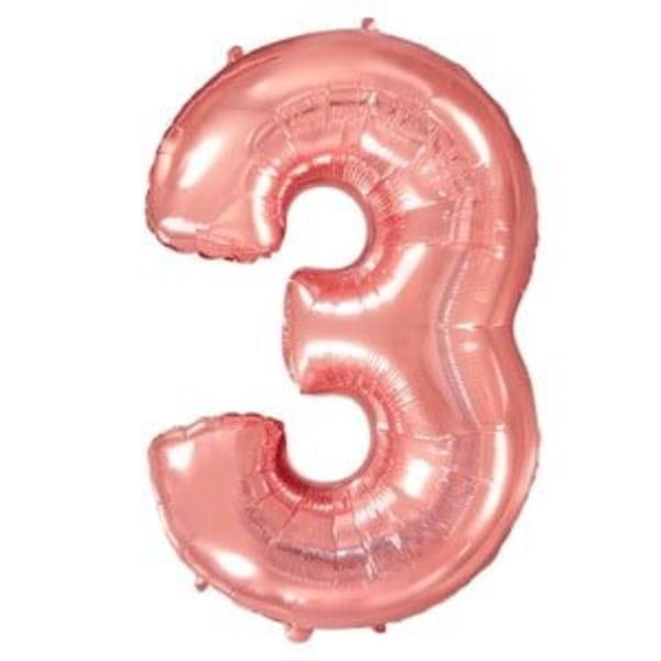 Воздушные шары. Доставка в Москве: Шар цифра розовое золото 3 Цены на https://sharsky.msk.ru/