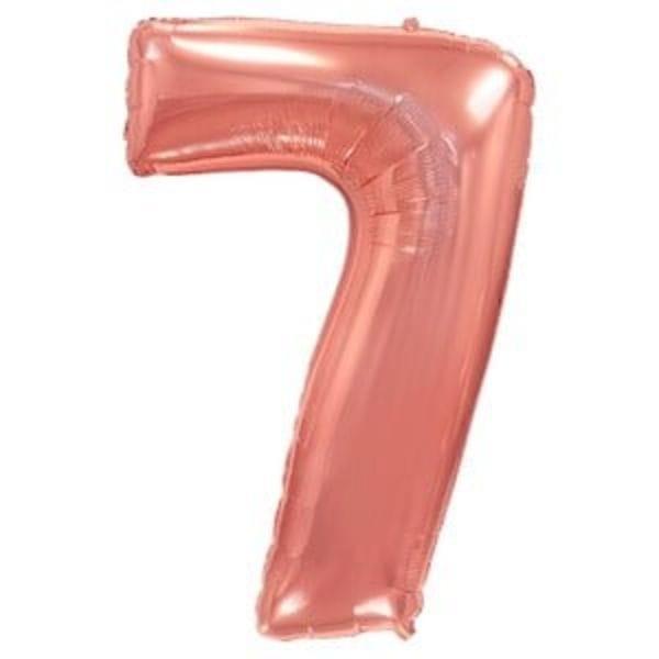 Воздушные шары. Доставка в Москве: Шар цифра розовое золото 7 Цены на https://sharsky.msk.ru/