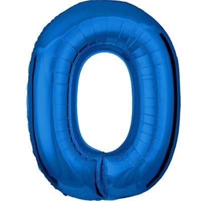 Шар синяя цифра 0