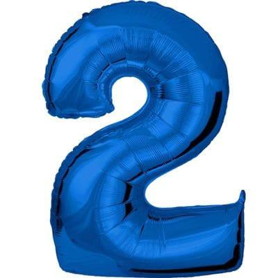 Шар синяя цифра 2