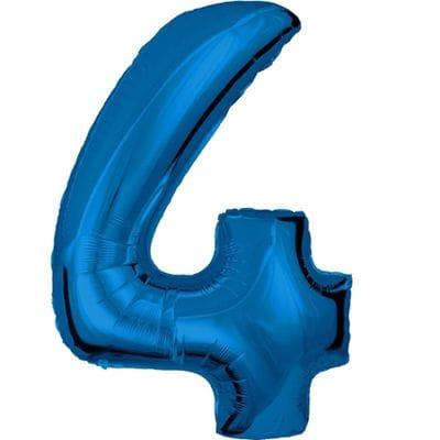 Шар синяя цифра 4