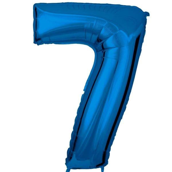 Воздушные шары. Доставка в Москве: Шар синяя цифра 7 Цены на https://sharsky.msk.ru/