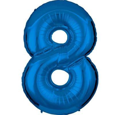 Шар синяя цифра 8