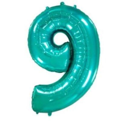 Шар цифра тиффани 9