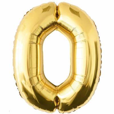 Шар золотая цифра 0