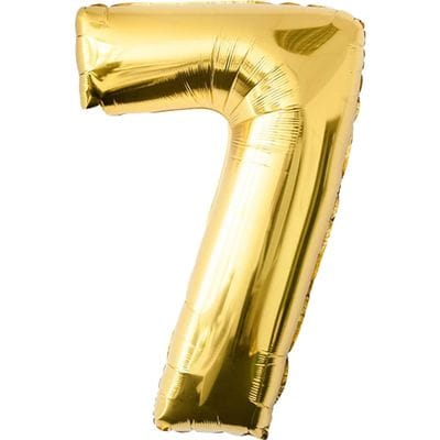 Шар золотая цифра 7