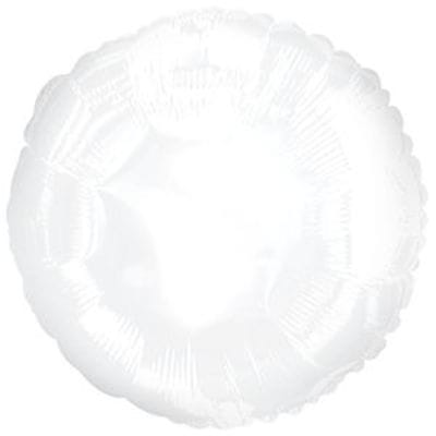 """Шар-Круг """"Белый"""", 46 см"""