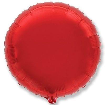 """Шар-Круг """"Красный"""", 46 см"""