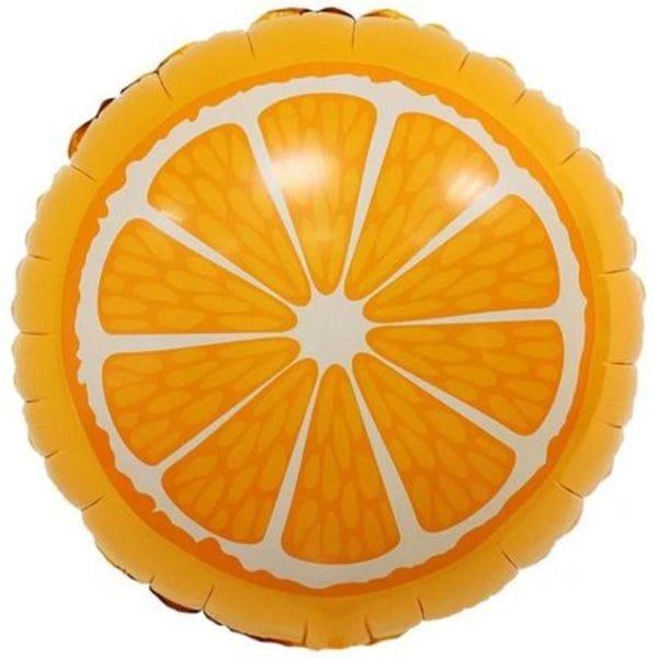 """Воздушные шары. Доставка в Москве: Круг """"Апельсин"""", 46 см Цены на https://sharsky.msk.ru/"""