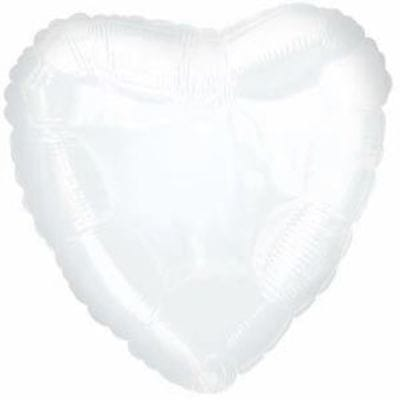 "Шар-Сердце ""Белое"", 46 см"