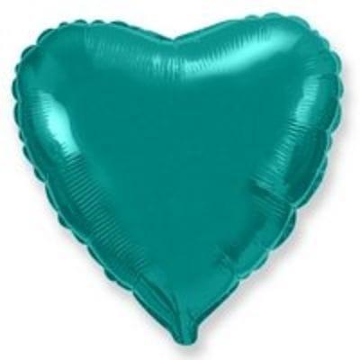 "Шар-Сердце ""Зеленое"", 46 см"