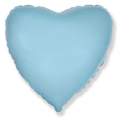 "Шар-Сердце ""Голубое"", 46 см"