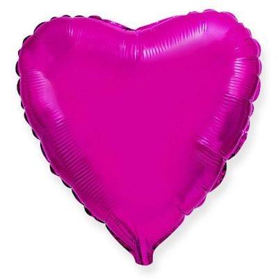 "Шар-Сердце ""Пурпурное"", 46 см"