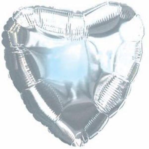 Воздушные шары. Доставка в Москве: Серебярное сердце Цены на https://sharsky.msk.ru/