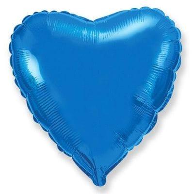 """Шар-Сердце """"Синее"""", 46 см"""